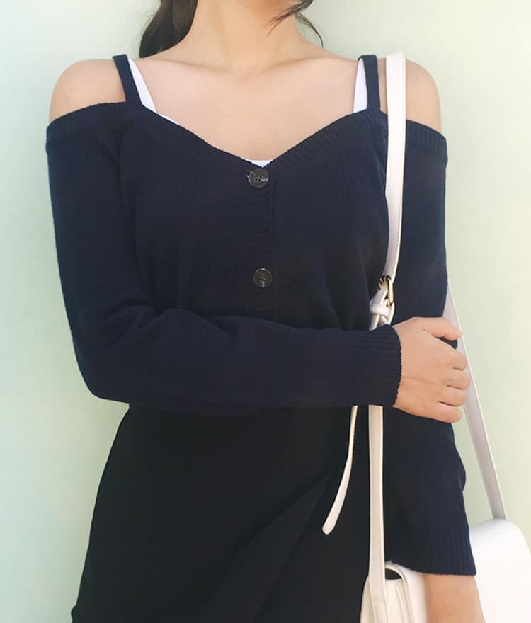 Weave-off cardigan