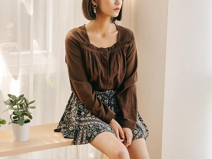 [TOP] MARIE FRILL BLOUSE