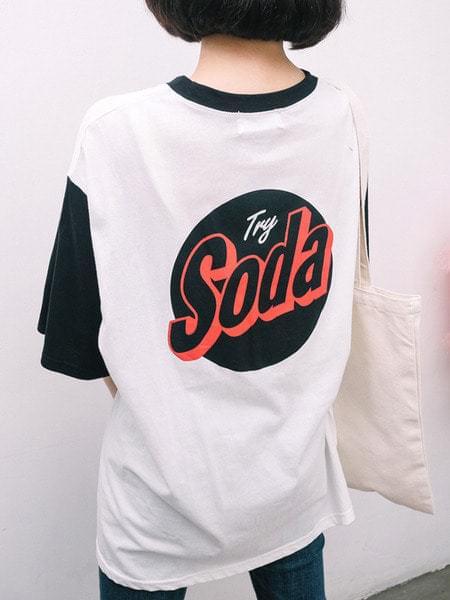 THE SODA 배색티 (t3618)