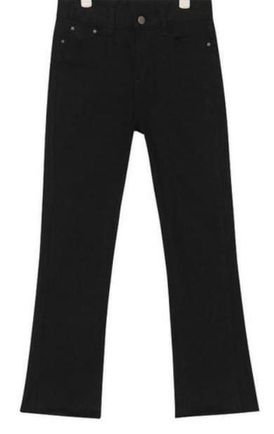 basic slim boots cut pants (s, m, l)