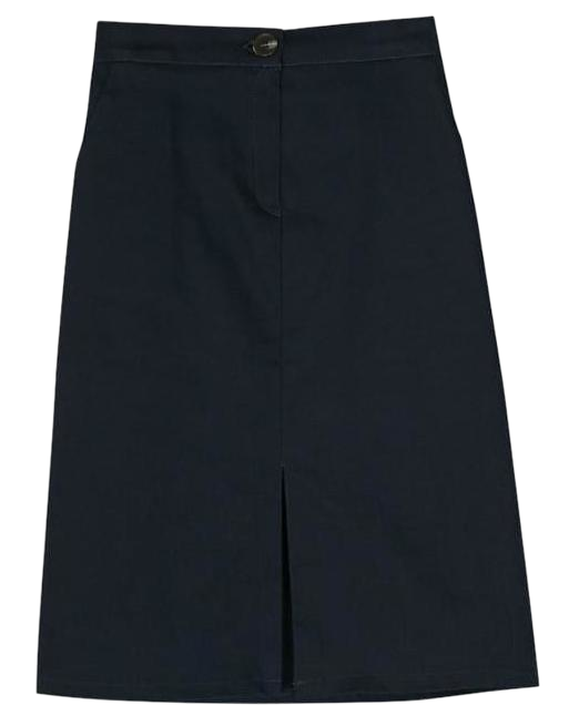 simple banding slit skirt