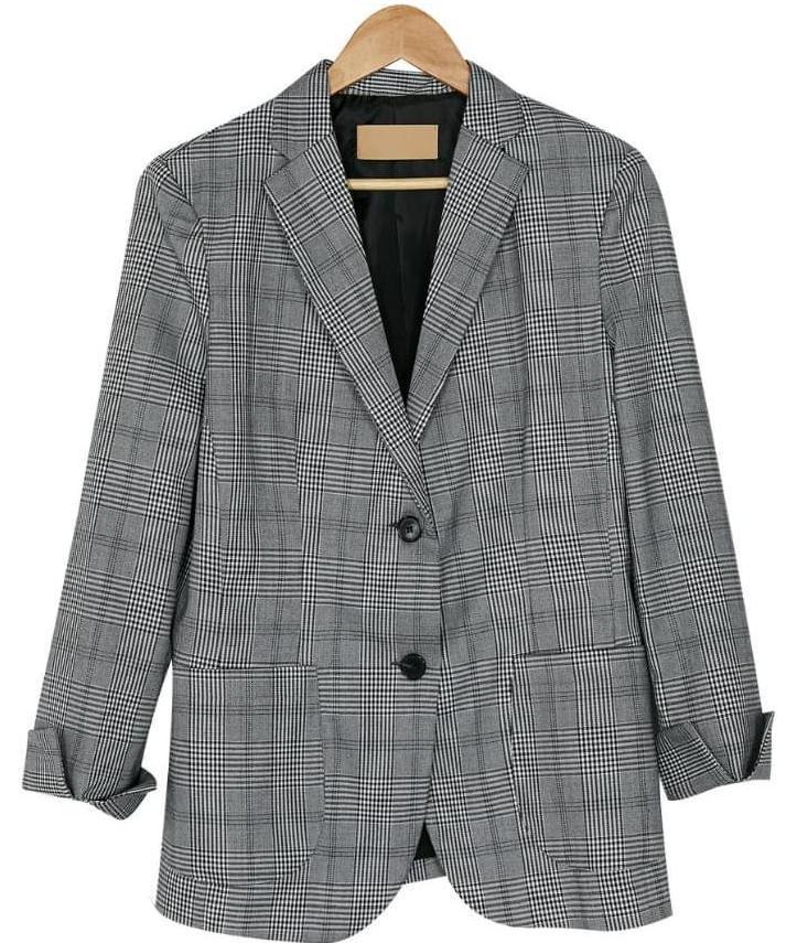 bono check pattern jacket