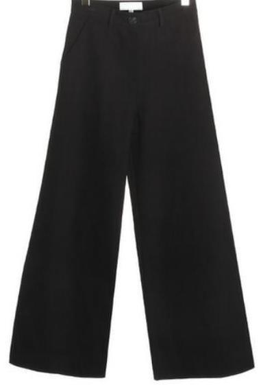 highwaist straight cotton pants