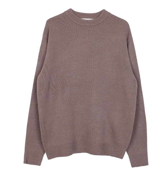 Boxy round knit (3color)