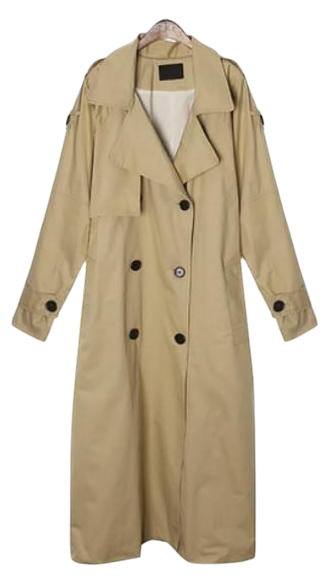maxi long belt trench coat