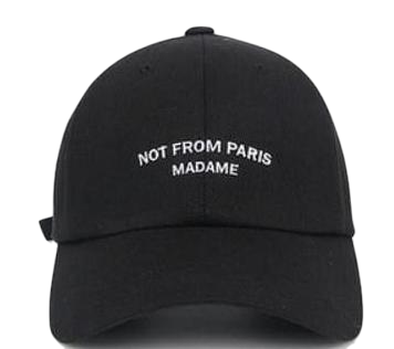 from point wearing cap