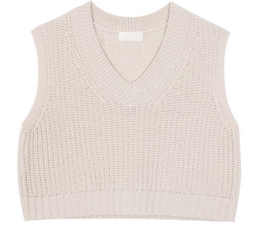 Crop knit vest (3color)