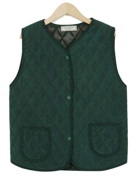 Made_outer-093_vintage quilting vest (size : free)