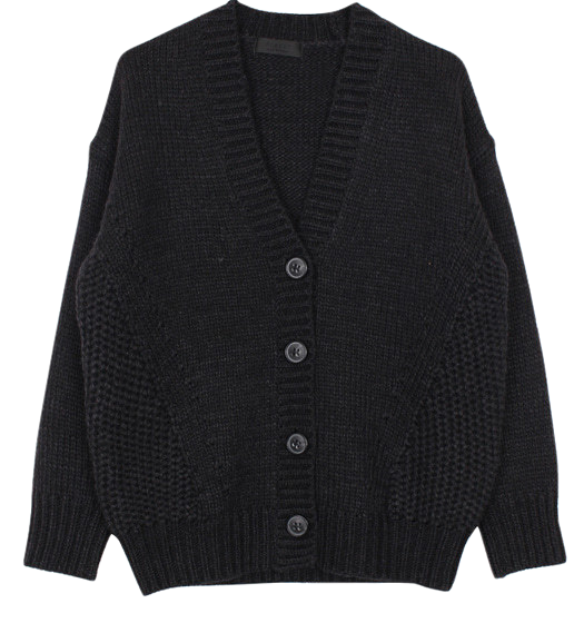 Wool button cardigan (2color)