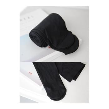 80D simple black tights