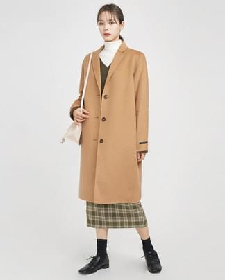3-button single handmade coat (wool90%)