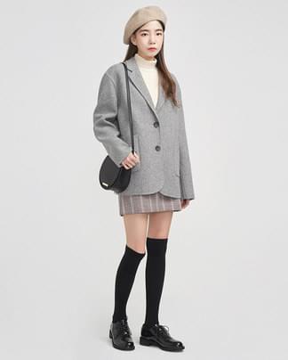 minimal handmade jacket (wool90%)