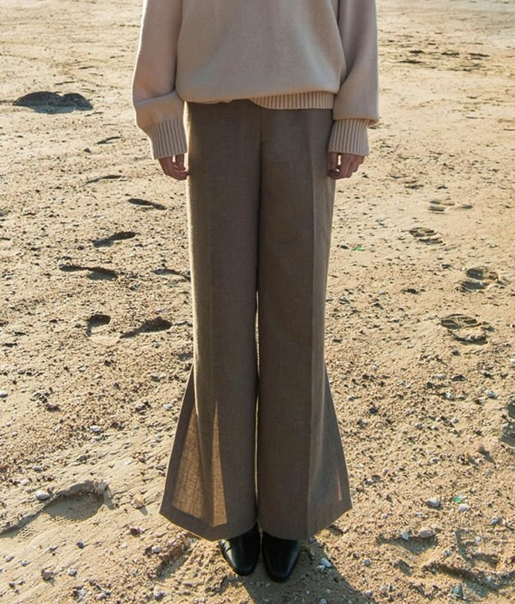 SIDE SLIT PANTS (Wool 60%)