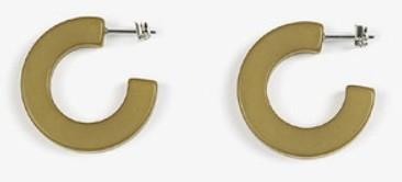avocado curve earring