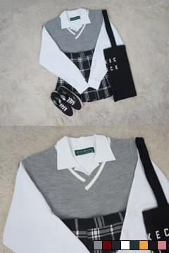 韓國空運 - Plata Color Knitwear Vest Unisex 針織外套