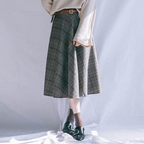 Check Long skirt belt set