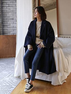 wide sleeve overfit coat