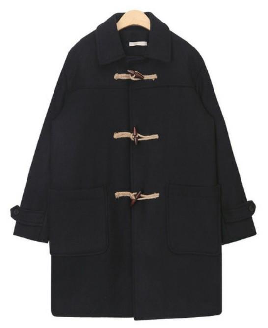 plait daily wool duffel coat
