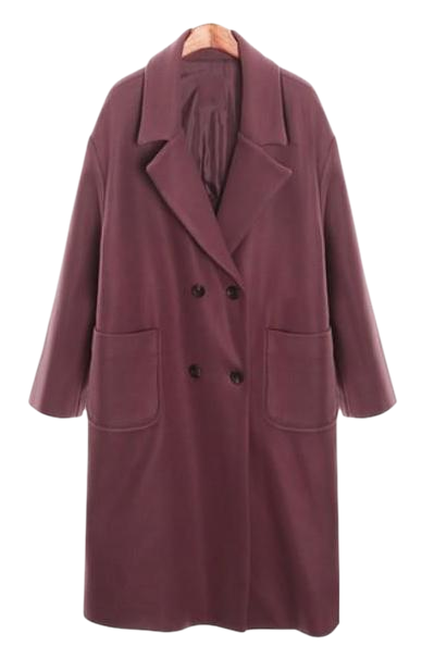 overfit wool coat