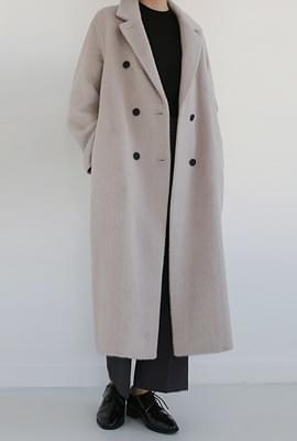 Alpaca hand-made long coat