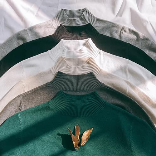 Mary's Viscose Half Neck Knit
