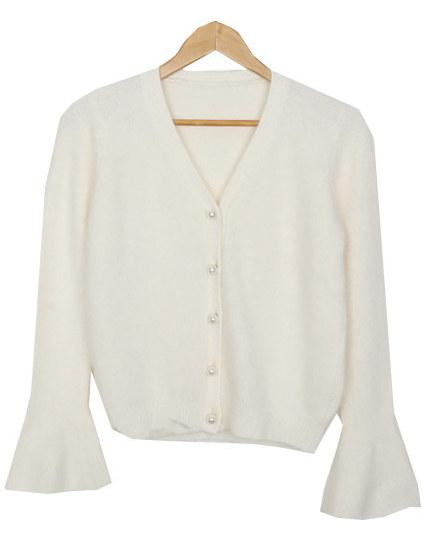 Pearl angora cardigan