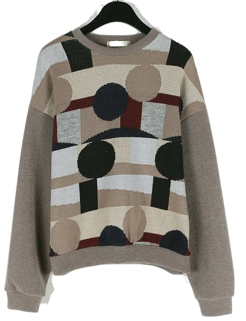 Figure round knit