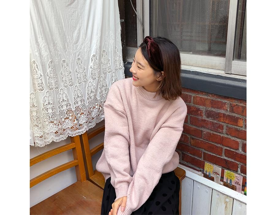 Slime round knit_B (size : free)