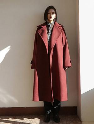 like over fit long coat