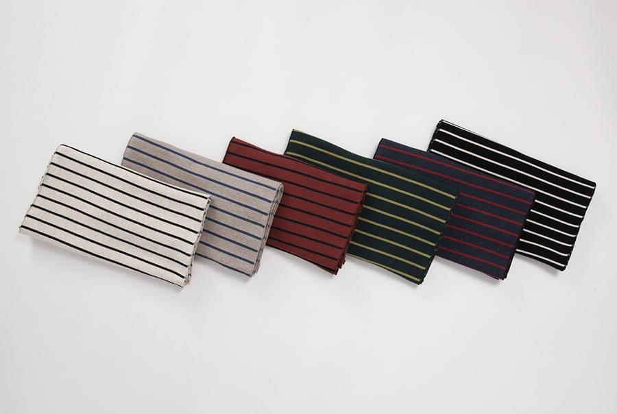 James stripe cotton muffler_B (size : one)