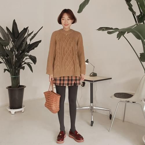 Minute-check skirt [size: S, M / 2color]