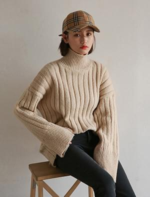 thick high neck golgi knit