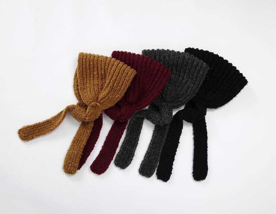 Melange knit bonnet_S (size : one)