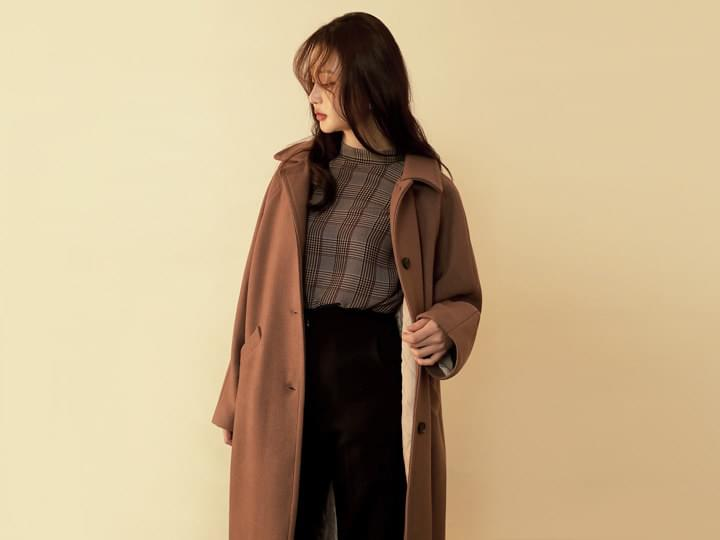 [OUTER] WOOL 80% SINGLE COAT
