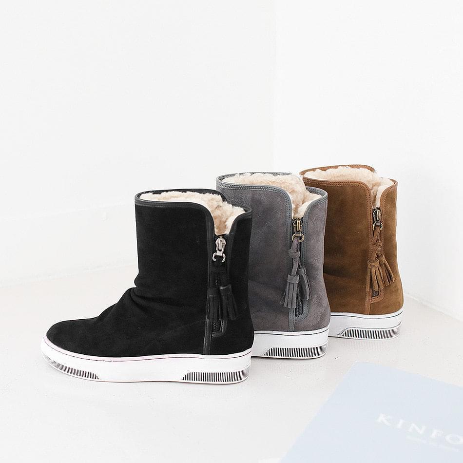 Cylon fur boots 3.5cm