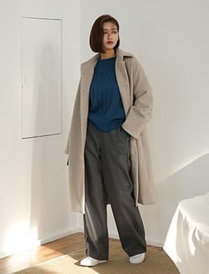 dear loose fit long coat