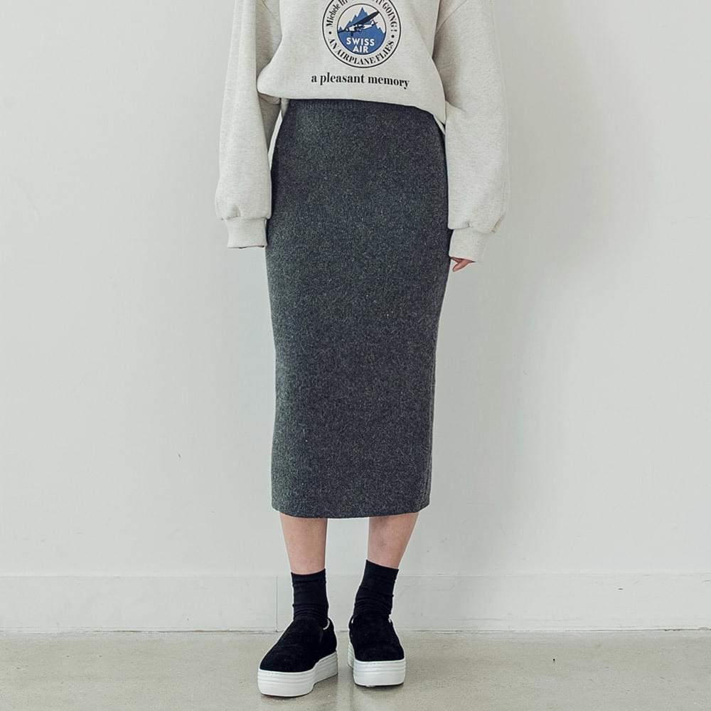 honey 2way slit angora skirt
