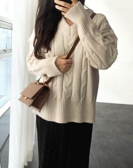 밀키꽈배기 knit (*3color)