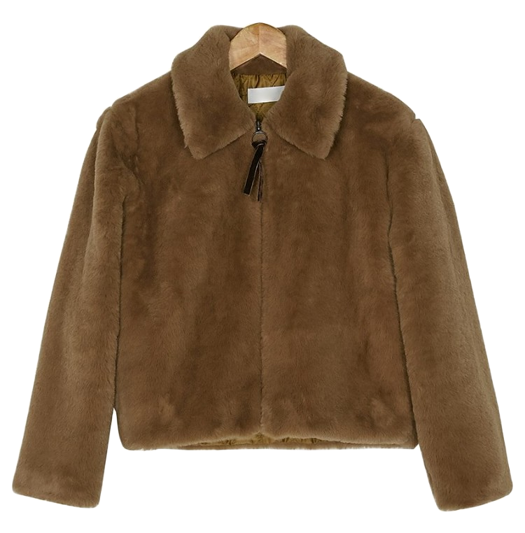fake fur short jacket