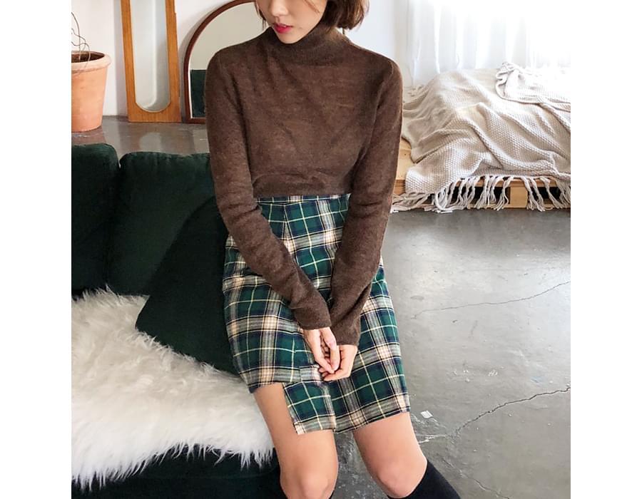 Sheer wool pola T_M (size : free)