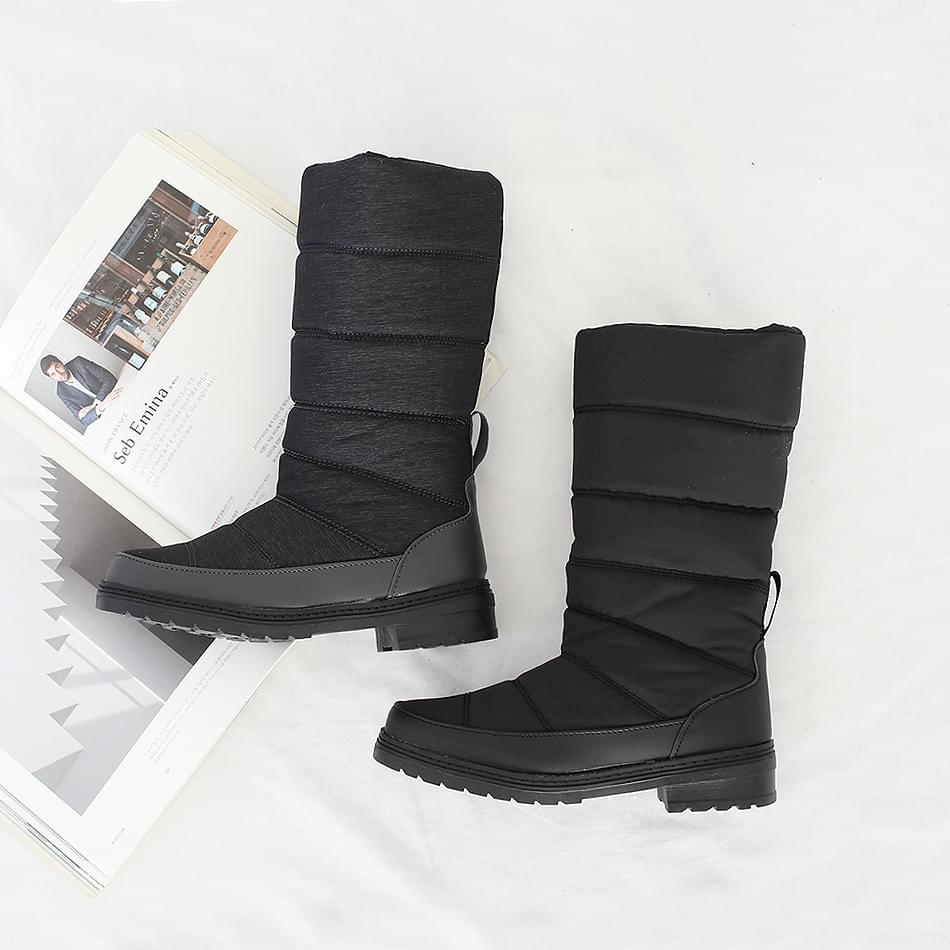 Hoshi padded middle boots 4cm