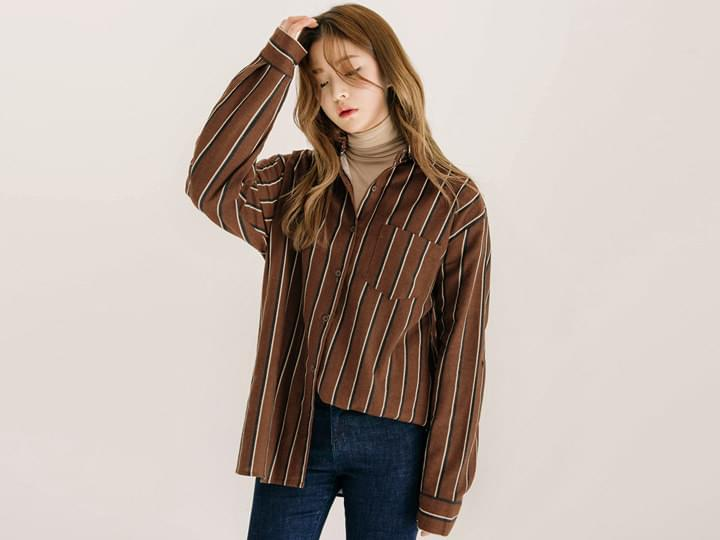 NAPPING STRIPE UNBAL SHIRTS