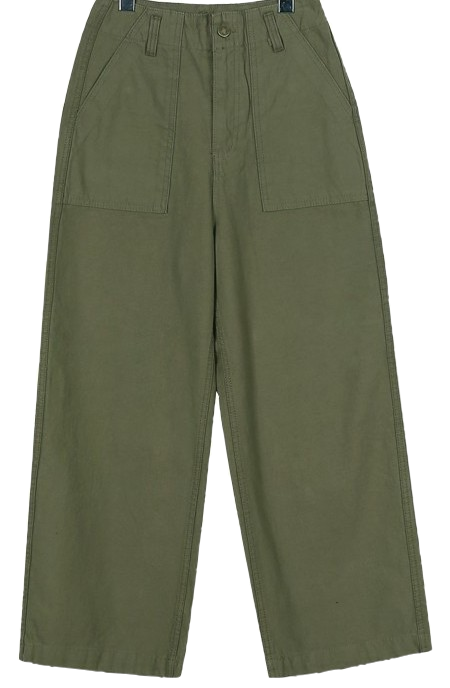 Natural wide cotton pants