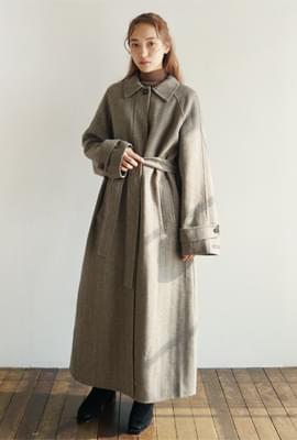 Handmade single long coat