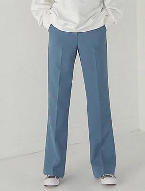 high-waist semi boots-cut maxi slacks