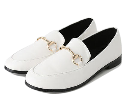 Lesson metal decorative loafers