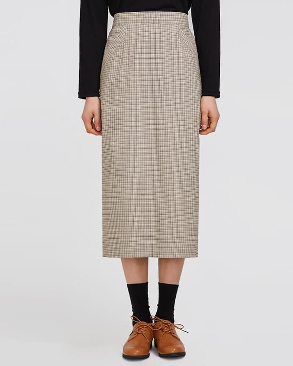 road check skirt 裙子