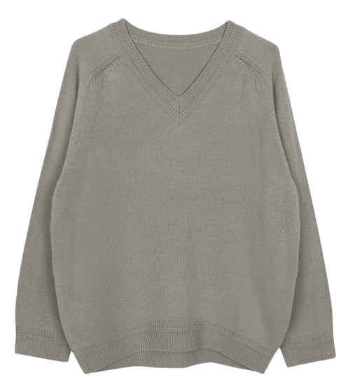 V-neck knit top (5color)