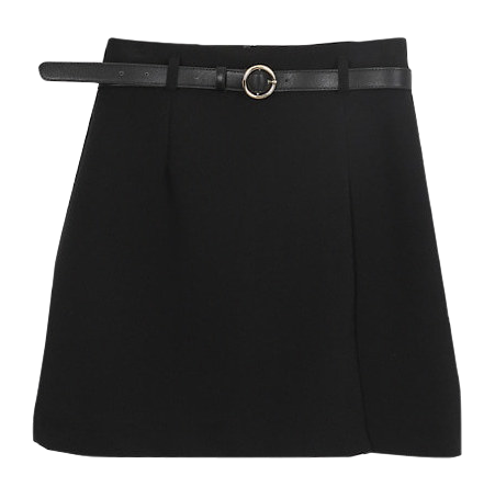 Gold ring mini skirt
