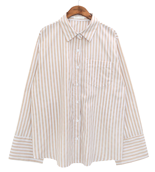 SHARP BOLD STRIPE CUFFS SHIRTS